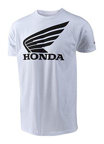 (Troy Lee Designs Honda-Wing T-Shirt (White, Small))