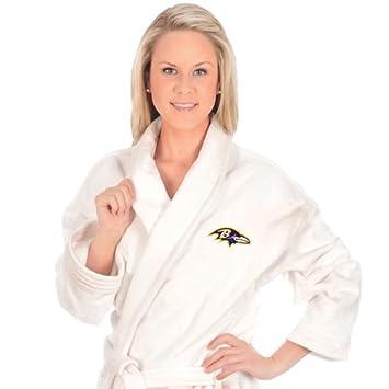 32b5bbcc McArthur Sports Baltimore Ravens Team Logo Embroidered Bath Robe One Size  Fits Most