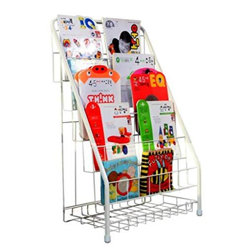 Polymer Book Racks - Kindergarten Bookshelf Wrought Iron Picture Book Rack Floor Magazine Rack Children's Bookshelf