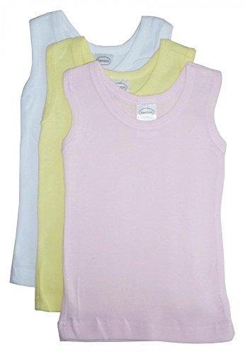 Infant Tank Top (Bambini Baby Boys Girls Unisex 3-Pack Sleeveless T-Shirts Tanks, Pink, Medium 19-26 Lbs)