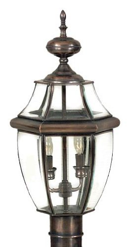 Quoizel NY9042AC Newbury 2-Light Outdoor Post Lantern, Aged Copper by Quoizel