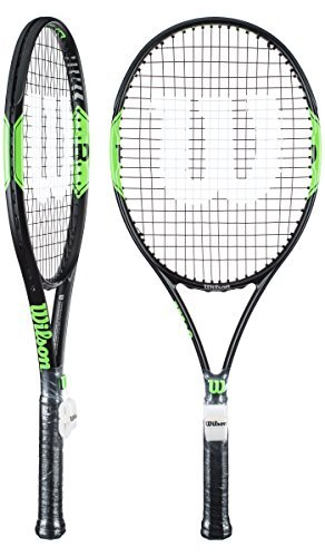 Wilson Tour BLX 103 Midplus Tennis Raquet Size 3 (4 3/8, Black/Green) (Blx Tennis Racquet Tour)