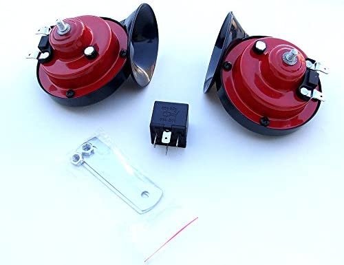 Electric Fanfare 410 510 Hz 12 V Red Car Air Horn E Marked Auto