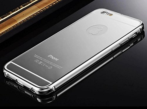 Silver Color Luxury Aluminum Ultra-thin Mirror Metal Case Cover for Apple iPhone 6 Plus 5.5
