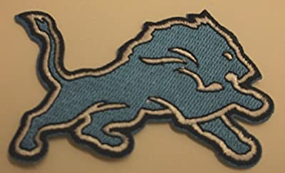 """Detroit Lions Embroidered Patch~3 3/8"""" x 2""""~Iron Sew On~NFL"""