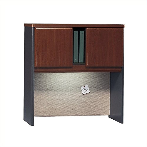 Bush Business Furniture Series A Collection 36W Hutch in Hansen Cherry/Galaxy by Bush Business Furniture