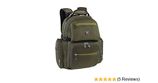 Amazon.com: SwissGear Swiss Gear Breaker Olive Polyester 16-inch Laptop Backpack: Swiss Gear: Computers & Accessories