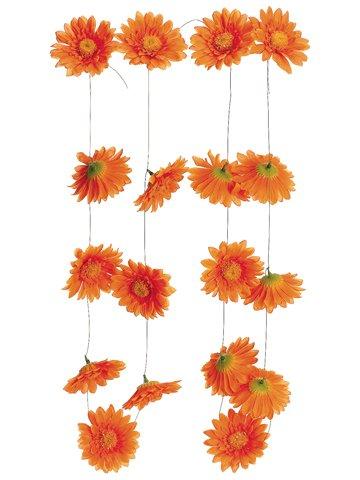 5.5' Gerbera Daisy Garland w/ 18 Flw. Orange (Pack of 6) (Gerbera Daisy Garland)