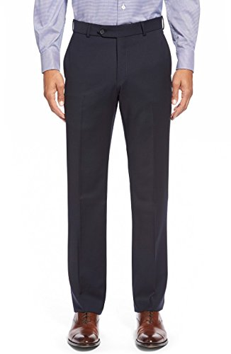 Ballin Men's Soho Modern Fit Super 120's Wool Dress Pants - Navy - 36