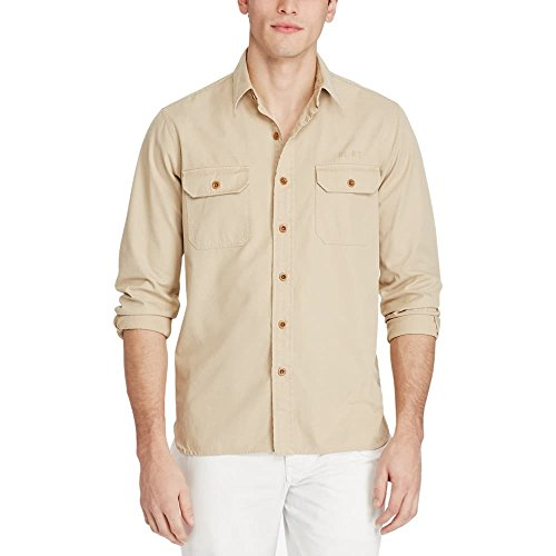 Polo Ralph Lauren Men's Twill Utility Shirt (Large, - Lauren Rl Ralph 67