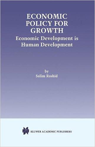 Economic Policy for Growth: Economic Development is Human Development