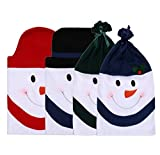 Christmas Decorations Snowman Chair Back Covers Christmas Dining Room Chair Covers Set of 4