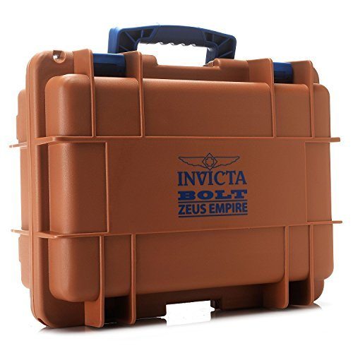 Collector Bolt (Invicta DC8BRN Bolt Zeus Empire 8 Slot Impact Resistant Diver's Watch Collector Case (Brown &)