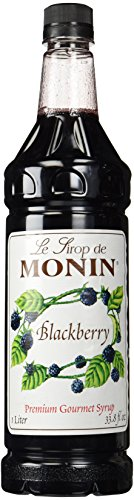 Blackberry Puree (Monin Flavored Syrup, Blackberry, 33.8-Ounce Plastic Bottle (1 liter))