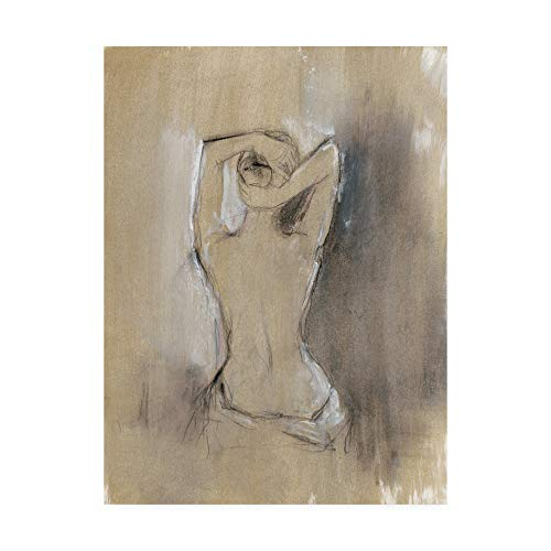 Trademark Fine Art Contemporary Draped Figure I by Ethan Harper, 24x32