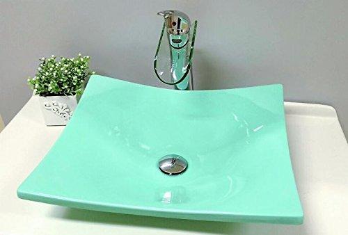 Cuba Pia De Apoio Para Banheiro Toleato Bari 43 Cm Marmorite Verde Mar