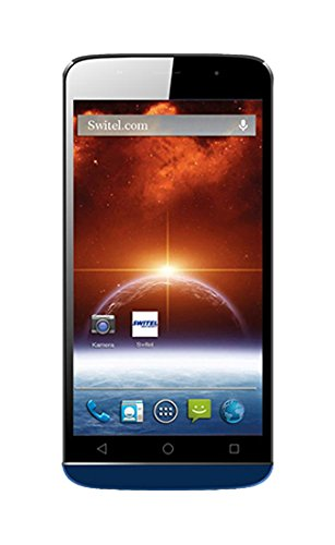 Switel S5502 Spark 14 cm (5,5 Zoll) Smartphone (8 MP Kamera, Android 4.4) blau