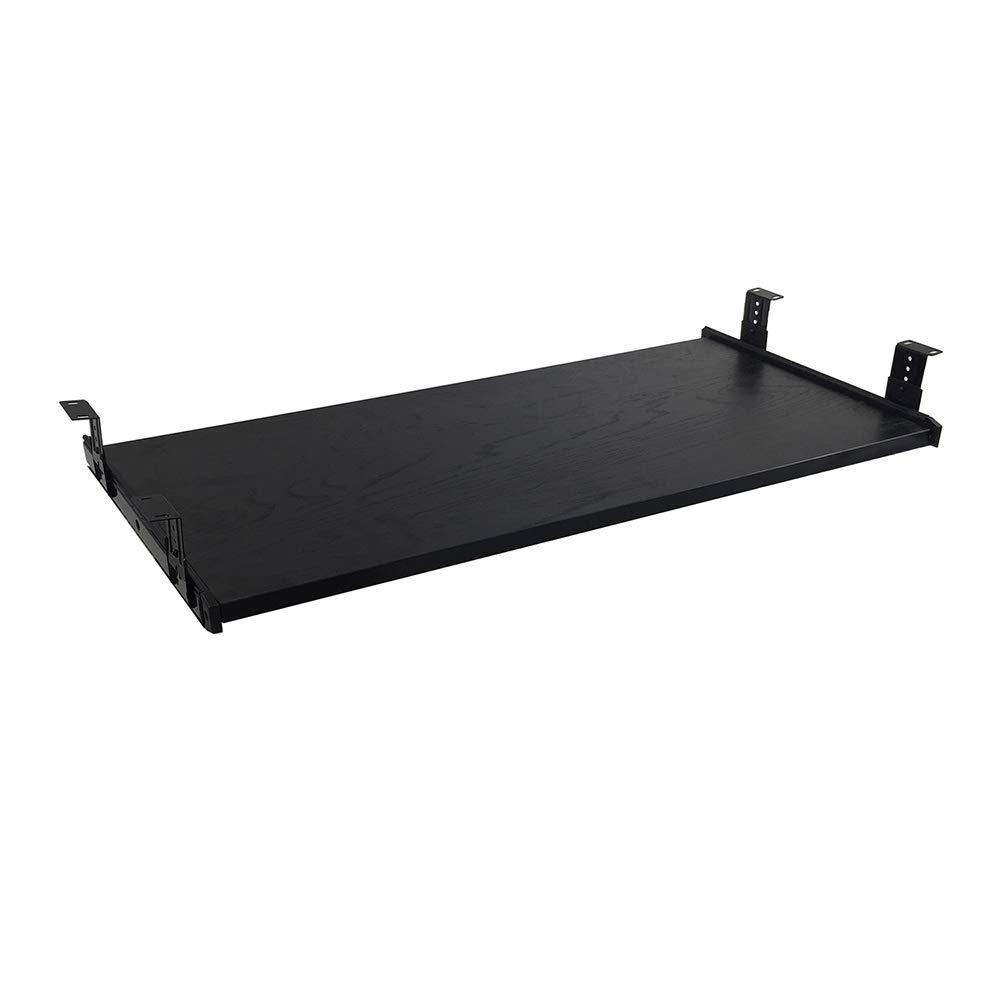 FRMSAET Furniture Accessories Office Product Suits Hardware 30'' Keyboard Drawer Tray Wood Holder Under Desk Adjustable Height Platform. (Large, Black)