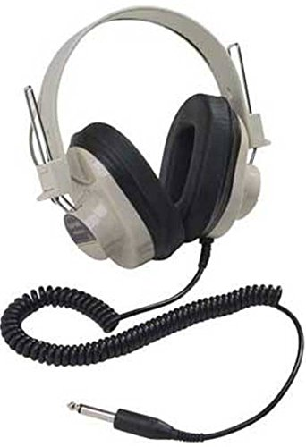 Califone 2924AVP Deluxe Monaural Headphone, Fully adjustable headband, Recessed wiring for safety, Replaceable 6' coiled cord long enough to avoid accidental pull out - Mono Headphone Replaceable Coiled Cord