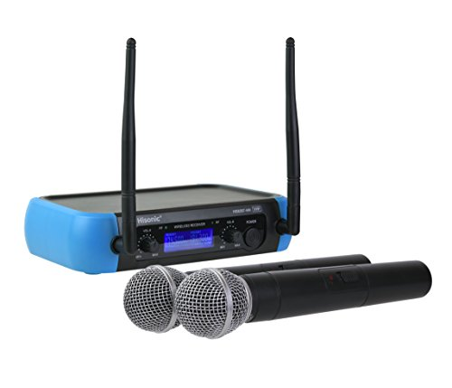 Hisonic HS8287 Dual VHF Wireless Microphone System (2 Handheld Mics)