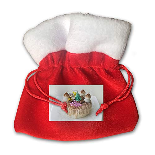 - Funny Christmas Mont Blanc Cake Merry Christmas Xmas Gift Candy Bags Jewelry Toys Treat Small Tiny Little 6 Inch Miniature Drawstring Reusable Bundle Reusable Carrying