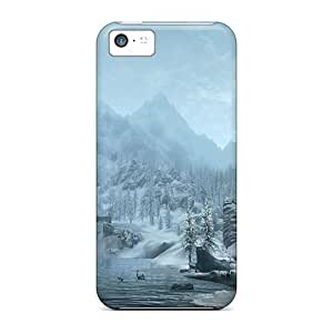 Excellent Iphone 5c Case Tpu Cover Back Skin Protector Skyrim Snowy Mountains