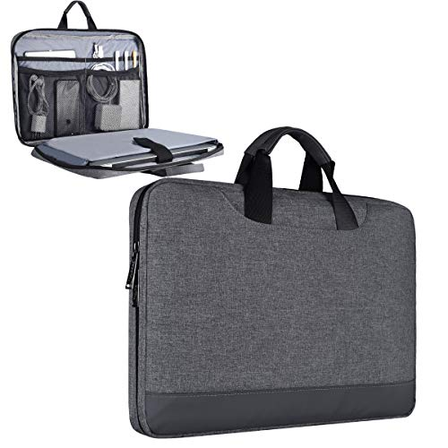 11.6-12.9 Inch Laptop Bag,Tablet Chromebook Case for Dell XPS 13 7390 9380,Samsung Acer Asus Dell Chromebook 11.6,Surface Pro 6,HP Chromebook 12.3 with Handle Tablet Sleeve Case(Grey) (Eleven Inch Tablet Case)