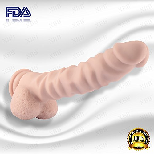9.1 Inch Liquid Silicone Dildo Realistic Suction Cup Dildo Male Penis (Dildo+Wearable Strap-on+Vibrating Bullet)