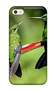 Fashion Protective The Couple Humming Green Red Animal Bird Case Cover For Iphone 5/5s