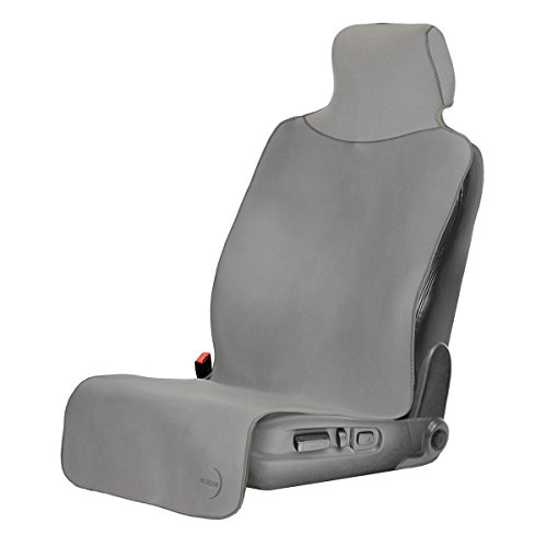 Car Seat Cover with New Style Premium Backing - Shield Your Seat from Sweat, Stains, Smell - Waterproof with Universal Fit for Cars, Trucks, SUVs (Gray with Gray Trim, White (Style Car Truck)