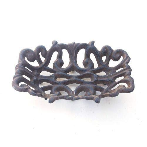Cast Iron Filigree - Midwest Craft House Cast Iron Soap Dish ~ Rustic Brown Victorian Filigree