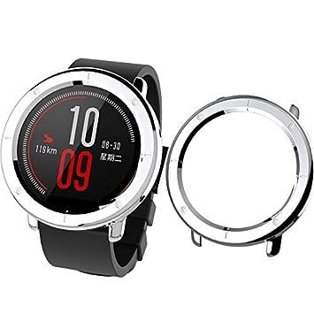 SIKAI Protector Carcasa Funda Compatible con Huami Amazfit Pace Smart Watch PC Moda Slim Colorido Marco Caso [Anti-Arañazos] Cubierta Proteger Shell ...