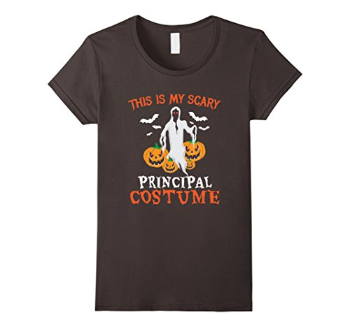 Womens This Is My Scary Principal Costume Halloween School T-Shirt Large Asphalt