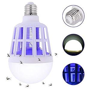 EisEyen Lampada Anti Zanzare Lampada Antizanzare Elettrica 15W da Campeggio per Interni Esterni per fattorie e Casa 3 spesavip