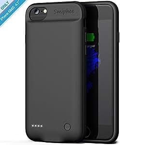 Smiphee Funda Batería iPhone 6/6s, Carcasa Batería Portátil 2800mAh para iPhone 6/6s(4.7 Pulgadas) Carcasa Cargador Extendida/Modo de Entrada por ...