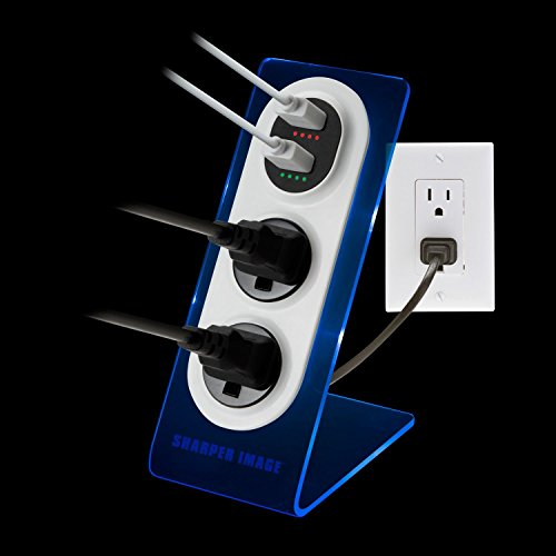 Sharper Image Visual Charge Dual Usb Chargeroutlet 2pk Import
