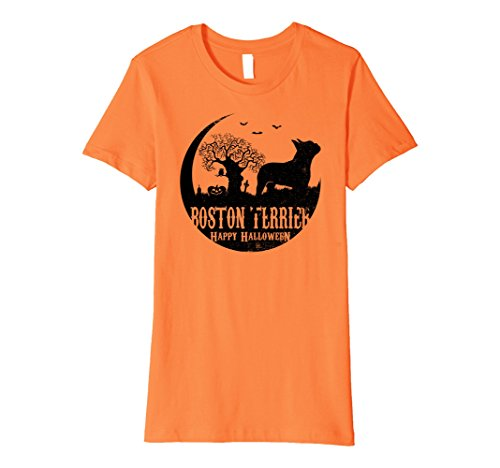 Womens BOSTON TERRIER Dog Halloween Costume T-shirts XL Orange - Best Boston Terrier Halloween Costumes