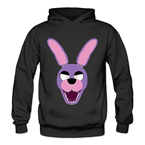 MSKOOK Women's Five Nights At Freddy Hooded Sweatshirt Black