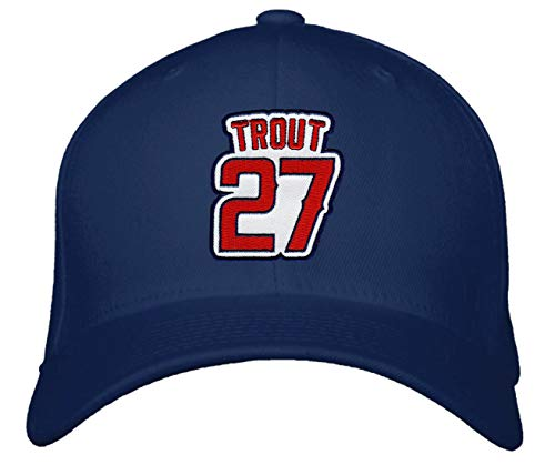 Mike Trout Hat - Los Angeles Baseball Adjustable Cap (Navy Blue)