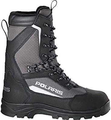 Polaris Unisex Snowmobiling Switchback Boot with 3M Thinsulate Insulation, Black/Gray - 12