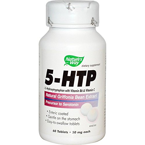 60 Way Tabs Natures - Natures Way Amino 5-HTP, 50 Milligrams, 60 Tablets. Pack of 3 Bottles