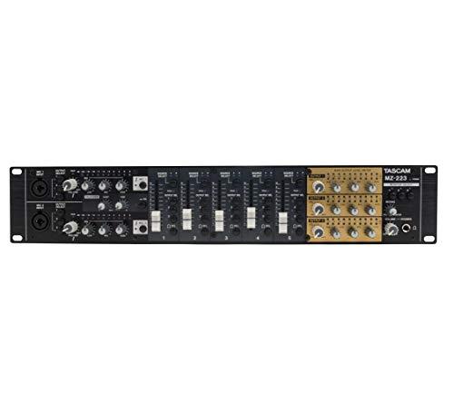 - Tascam MZ-223 7-Channel 3-Zone Rackmount Audio Mixer With Voice Priority