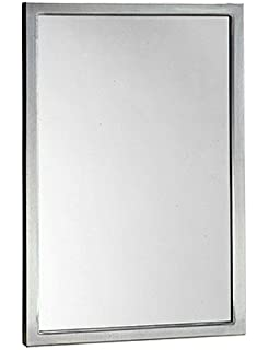 bobrick 290 series 304 stainless steel welded frame glass mirror satin finish 24