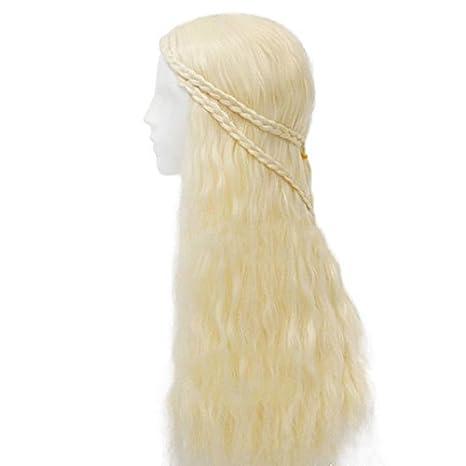 thematys Khaleesi Daenerys Targaryen peluca wig - Disfraz de Game of Thrones - Perfecto para Carnaval y Cosplay - Mujeres: Amazon.es: Productos para ...