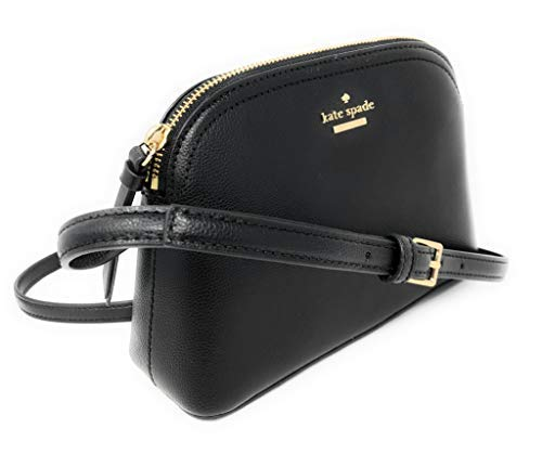 Kate Spade Peggy Patterson Drive Leather Crossbody Bag (Black), Small (Convertible Leather Bag)