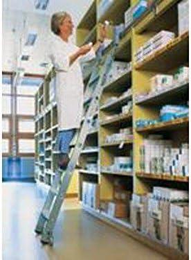 Aluminio-escalera de estantería-tijera, con ruedas, 11 niveles de altura de trabajo de hasta 4,05 M: Amazon.es: Bricolaje y herramientas