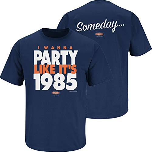 (Chicago Football Fans. Someday… I Wanna Party Like It's 1985 Navy T-Shirt (Sm-5X) (Short Sleeve, Large))