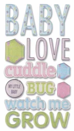 (Sticko Phrase Cafe Epoxy Stickers, Baby)