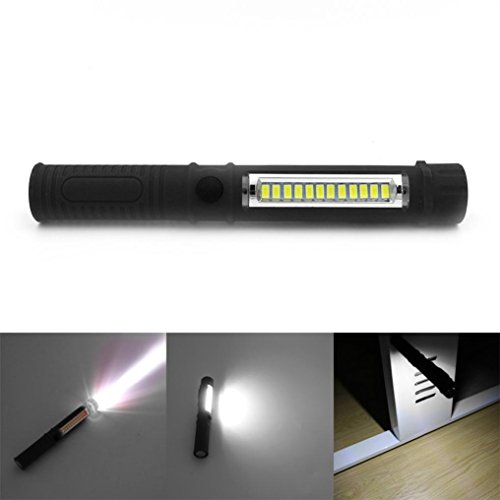 PENATE 2 in 1 Portable Magenetic Flashlight Waterproof Powerful Hard Light Flashlight 3W LED Top&1000 Lumens COB Side Tactical Flashlight Multifunction Work Light