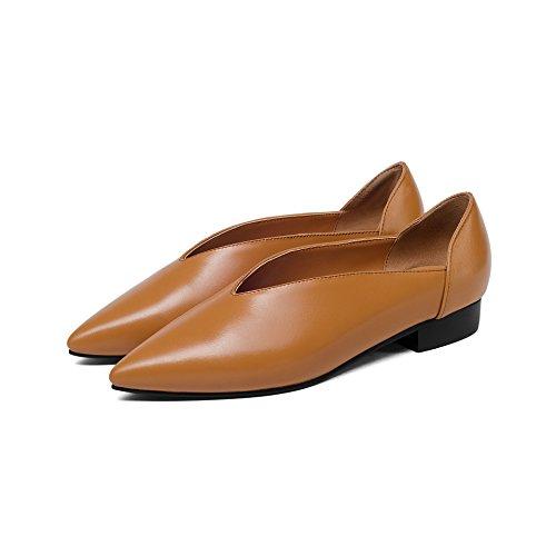 Light Plat Peu à Chaussures Chaussures LSM Femmes Brown MEI Casual Talons Bouche Profonde amp;S qxwwP87v